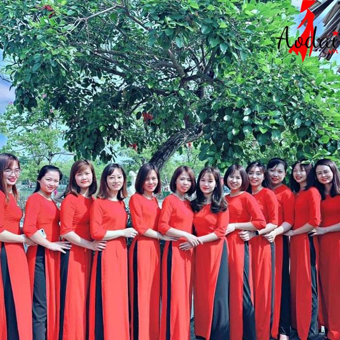 Áo dài giáo viên trường Mầm non Baby Home Hà Nội