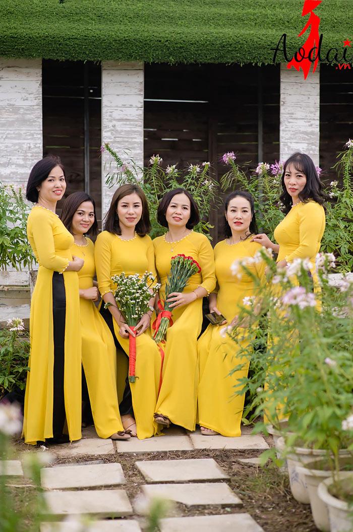 Áo dài giáo viên trường Mầm non Bảo Thư Hà Nội