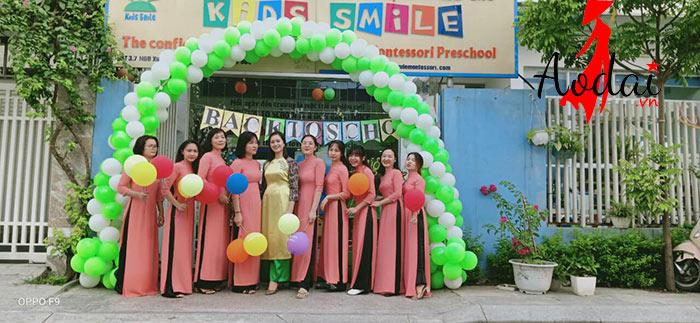  Áo dài giáo viên trường Mầm non Kids Smile Hà Nội  | ao dai giao vien