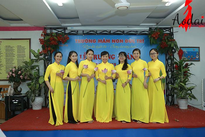 Áo dài giáo viên trường Mầm non Đức Trí Hà Nội