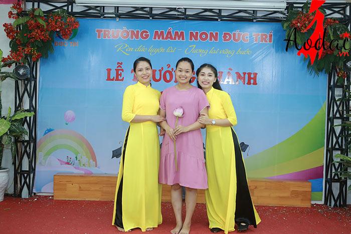 Áo dài giáo viên trường Mầm non Đức Trí Hà Nội | Ao dai giao vien mam non