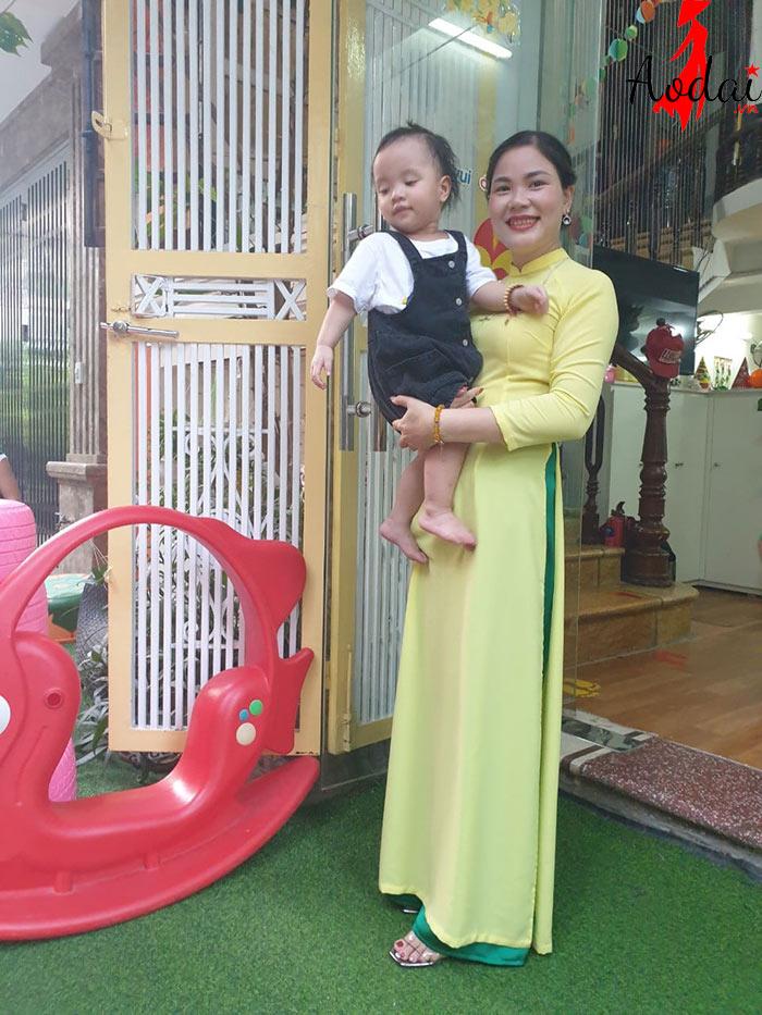 Áo dài giáo viên trường Mầm non Happy Kids Hà Nội | Ao dai giao vien mam non