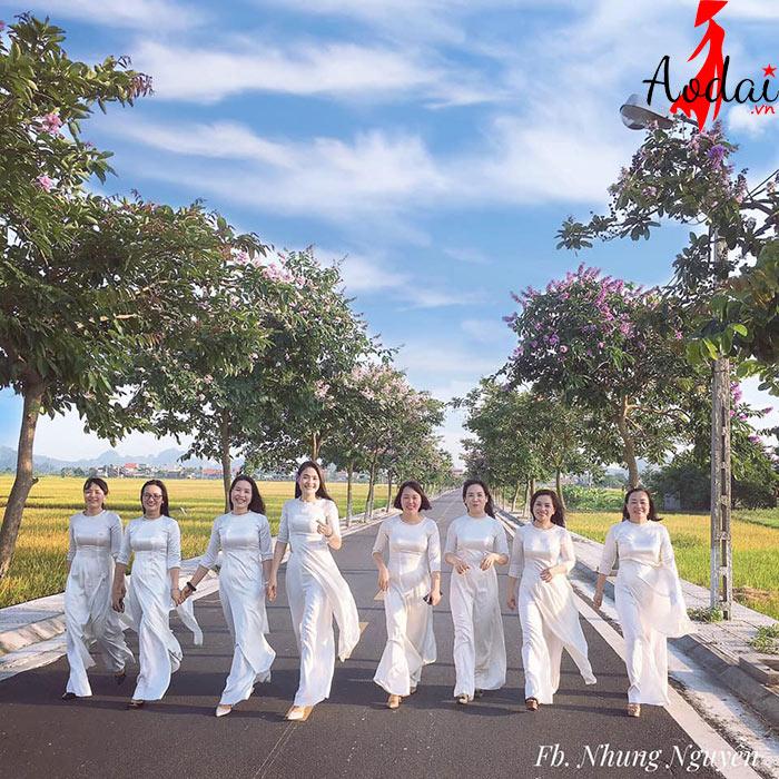 Áo dài giáo viên trường Mầm non Hoàng Anh Hà Nội