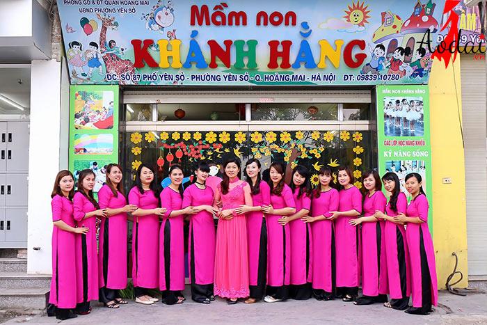 Áo dài giáo viên trường Mầm non Khánh Hằng Hà Nội