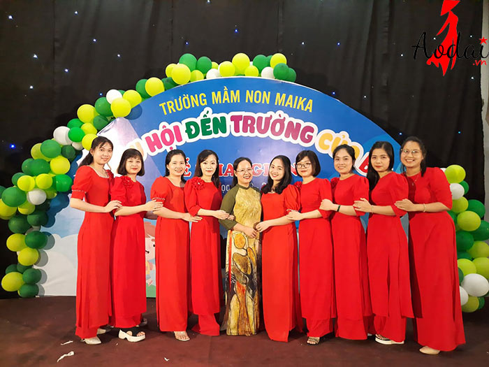  Áo dài giáo viên trường Mầm non Mai Ka Hà Nội