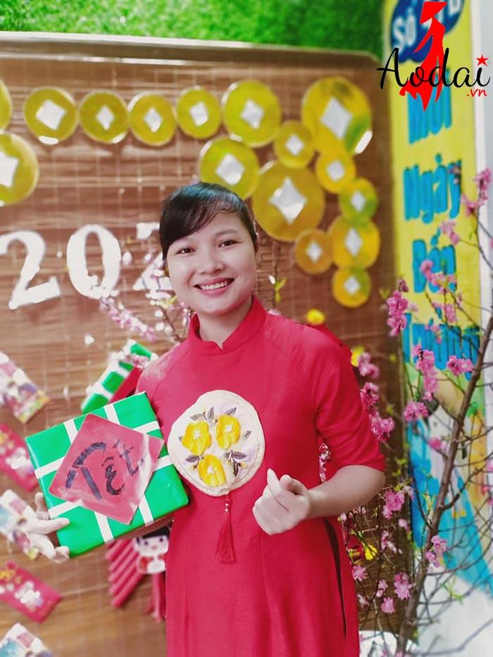 Áo dài giáo viên trường mầm non Mickey Hà Nội