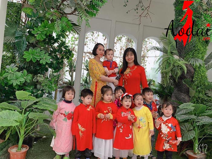 Áo dài giáo viên trường mầm non Sao Sáng Hà Nội | Ao dai giao vien mam non