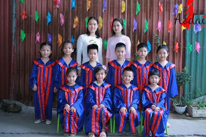 Áo dài giáo viên trường Mầm non Sơn Ca Hà Nội | Ao dai giao vien mam non