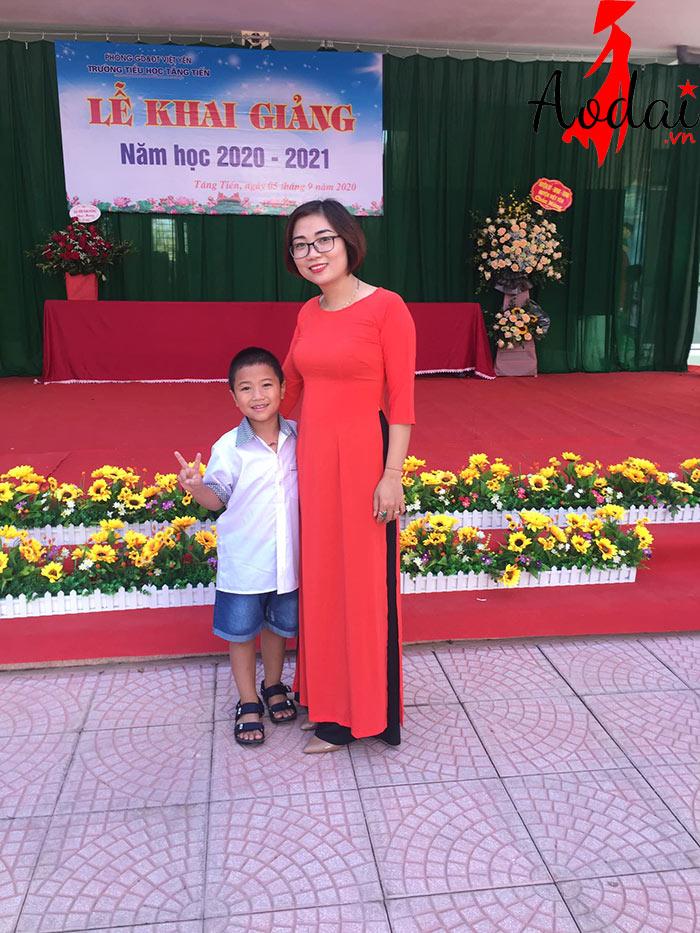 Áo dài giáo viên trường Mầm non Vân Vũ Hà Nội | Ao dai giao vien mam non