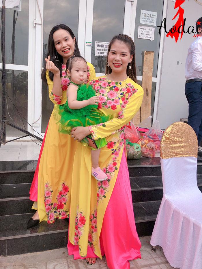 Áo dài giáo viên trường Mầm non Victoria Hà Nội