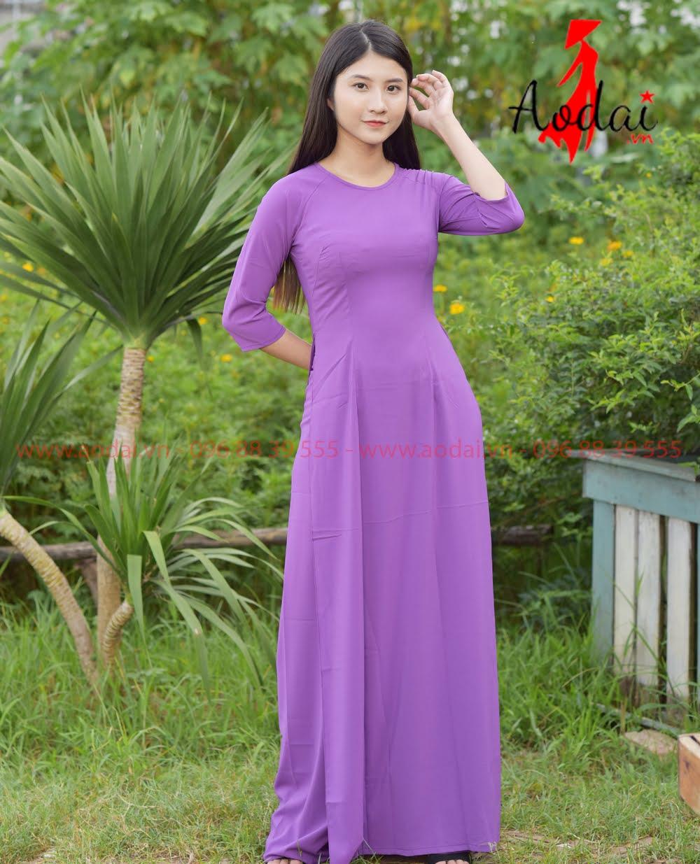May áo dài tại Gia Lâm
