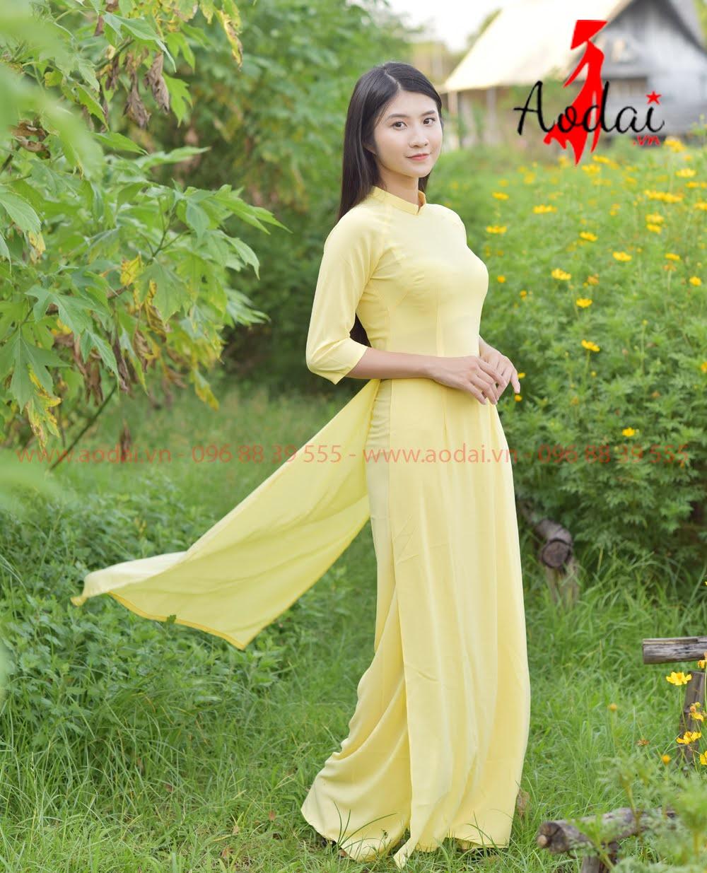 May áo dài tại Hà Giang