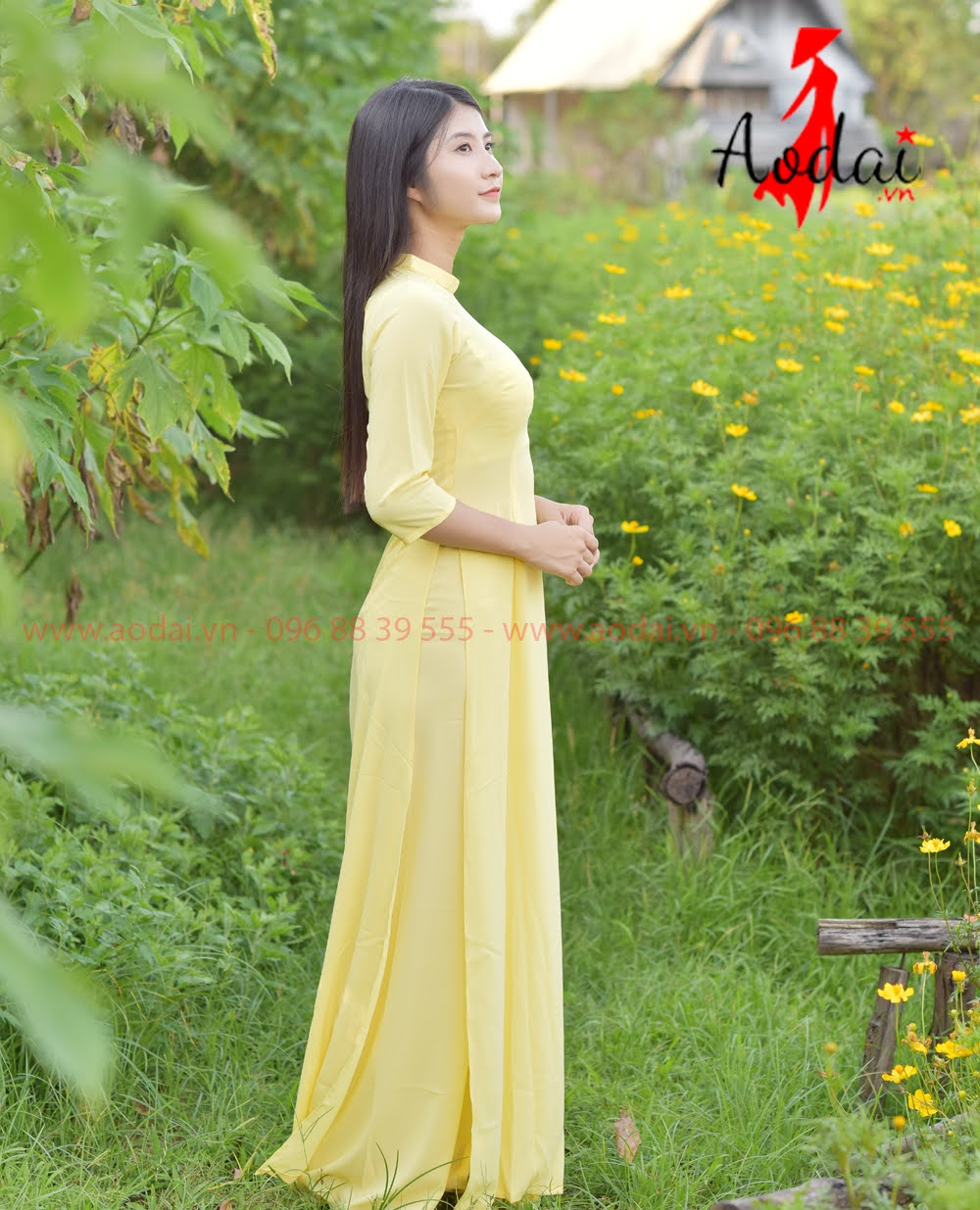 May áo dài tại Mê Linh