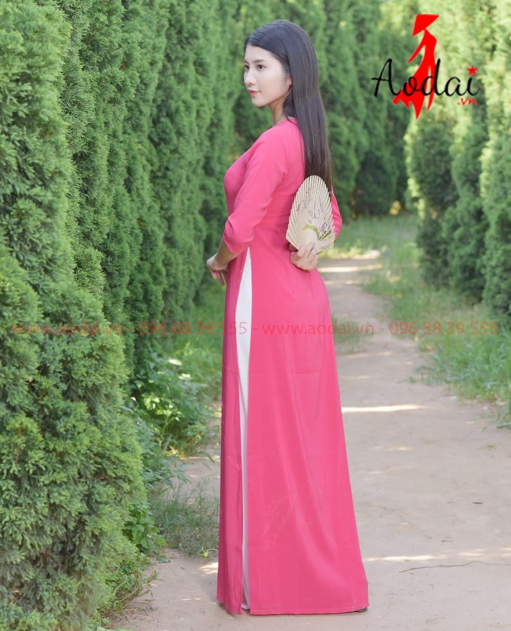 May áo dài tại Ninh Bình