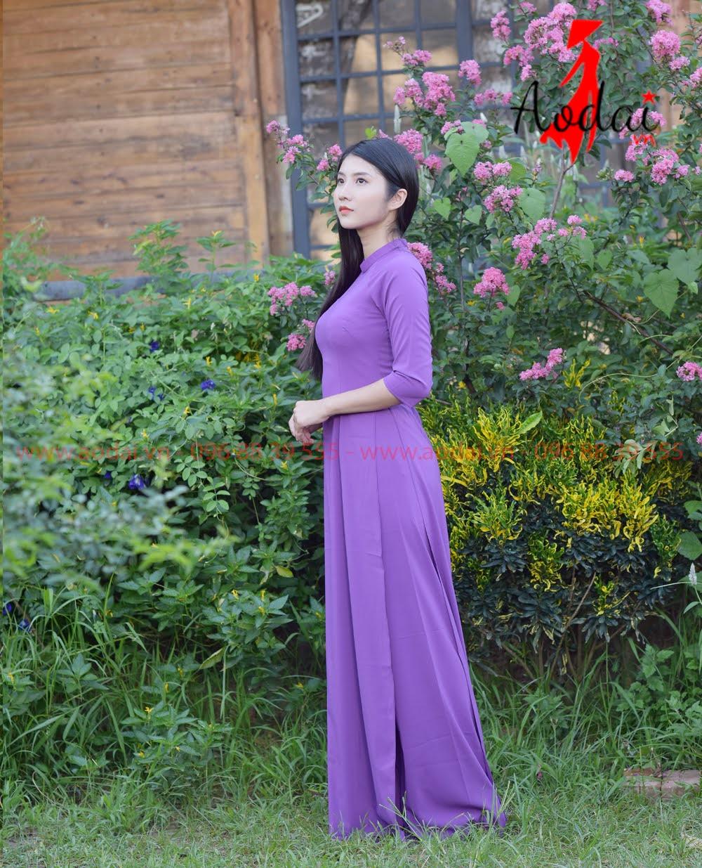 May áo dài tại Thanh Xuân