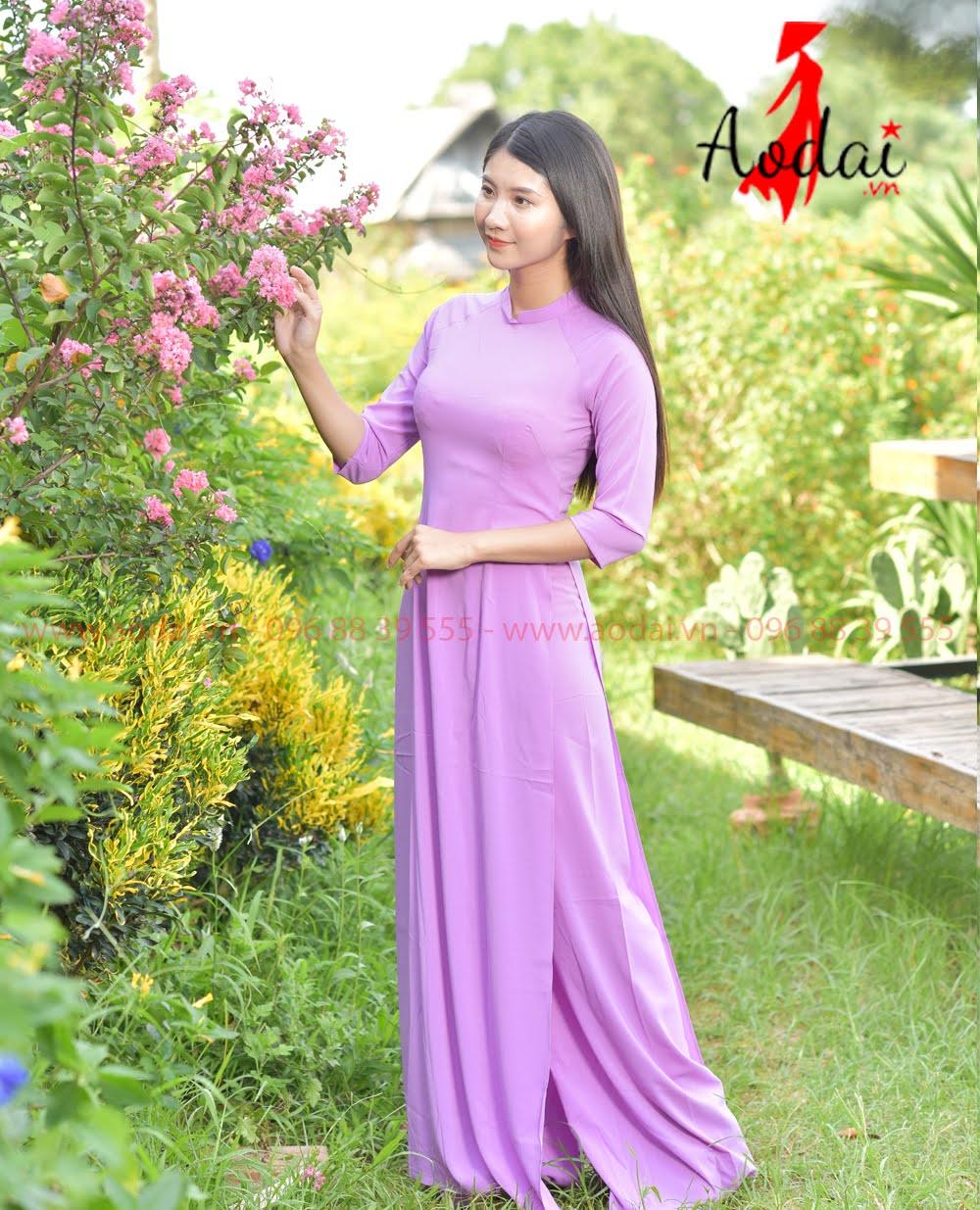 May áo dài tại Vĩnh Long